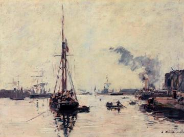 Port Scene Artwork by Eugène-Louis Boudin