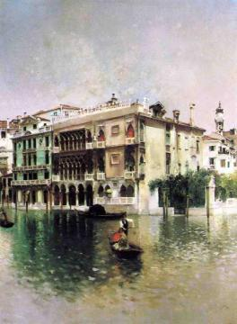 Venice, The Grand Canal Artwork by Robert Frederick Blum