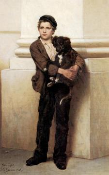 Frank And His Dog Artwork by John George Brown