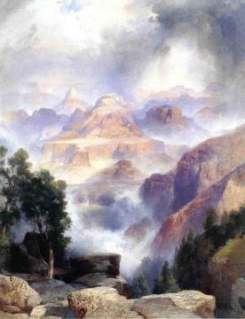 A Showery Day, Grand Canyon Artwork by Thomas Moran