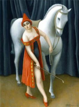Horsewoman Artwork by Jean Metzinger