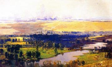 The Somme Valley Near Corbie Artwork by Sir Arthur Streeton