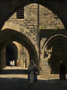 A Street in Jerusalem Artwork by John Maler Collier