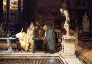 A Roman Art Lover Artwork by Sir Lawrence Alma-Tadema