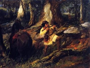 Trapper At Bay Artwork by Arthur Fitzwilliam Tait