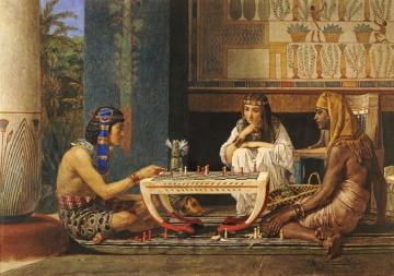Egyptian Chess Players Artwork by Sir Lawrence Alma-Tadema