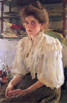 Portrait of Maria Lvova Artwork by Valentin Serov