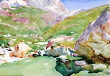 Mountain Stream, Giomein Artwork by John Singer Sargent
