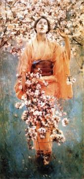 Cherry Blossoms Artwork by Robert Frederick Blum