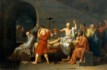 The Death Of Socrates Artwork by Jacques Louis David