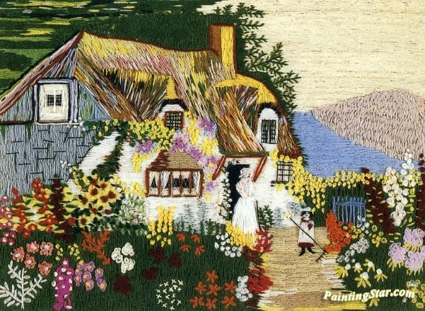 Cottage By The Sea Artwork Anna Mary Robertson Grandma Moses