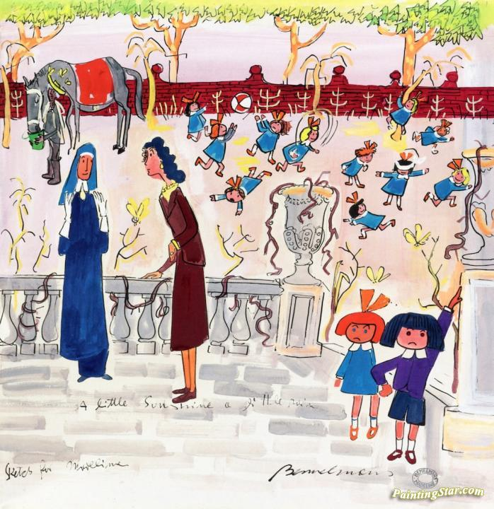 A Little Sunshine, A Little Rain Artwork by Ludwig Bemelmans