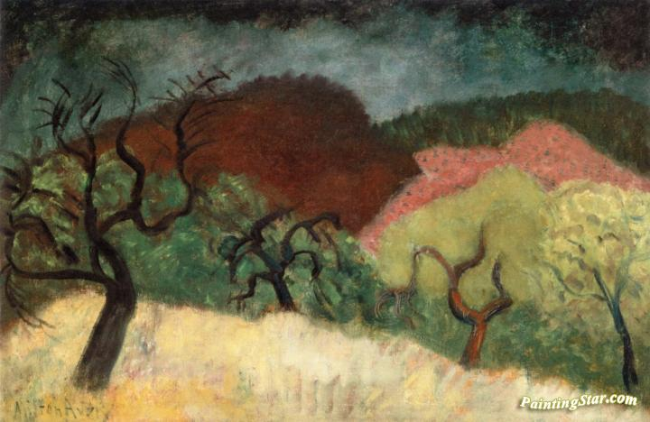 Autumn Landscape Artwork by Milton Avery