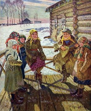 Celebration on the Porch Artwork by Nikolai Petrovich Bogdanov-belsky