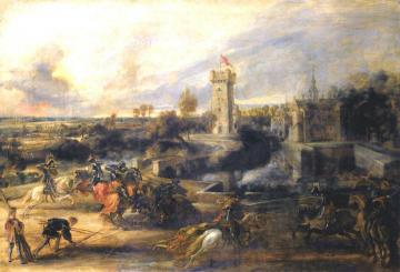 Tournament in front of Castle Steen Artwork by Peter Paul Rubens