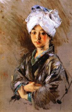 Japanese Woman Artwork by Robert Frederick Blum