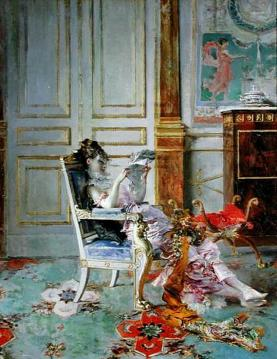 Girl Reading In A Salon Artwork by Giovanni Boldini