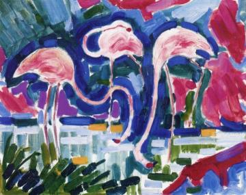 Flamingos Artwork by Jean Metzinger