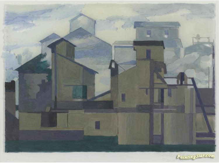 Architectural Cadences Artwork By Charles Sheeler Oil