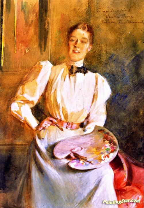 Cecilia Beaux Artwork By Rosina Emmet Sherwood Oil