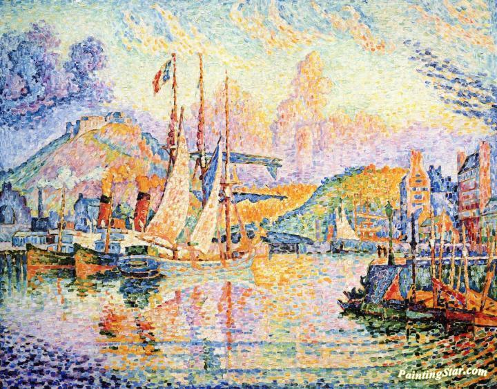 Cherbourg Fort Du Roule Artwork By Paul Signac Oil