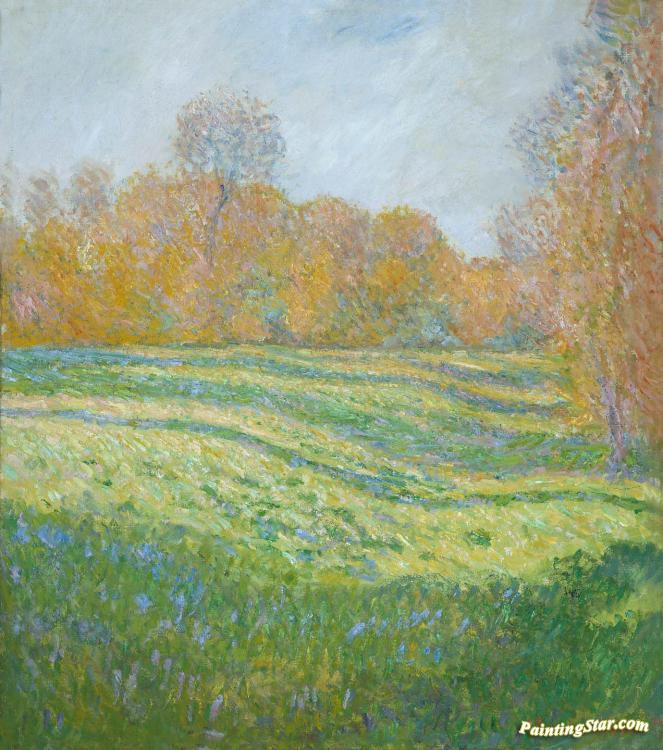 Meadow At Giverny Artwork by Claude Oscar Monet