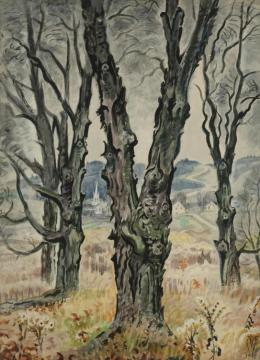 View Through Trees Artwork by Charles Burchfield