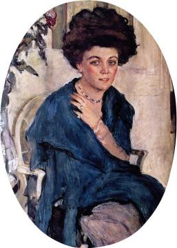 Portrait of Yelena Oliv Artwork by Valentin Serov