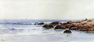 Sailboats Off A Rocky Coast Artwork by Alfred Thompson Bricher
