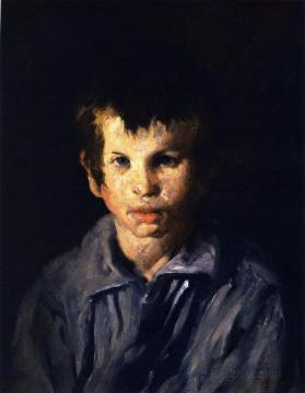 Cross-Eyed Boy Artwork by George Wesley Bellows