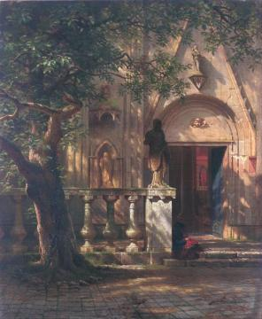 Sunlight And Shadow Artwork by Albert Bierstadt