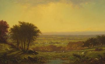 Indian Summer, Massachusetts Artwork by Alfred Thompson Bricher