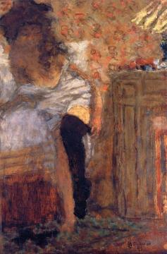 Woman Putting on Her Stockings Artwork by Pierre Bonnard