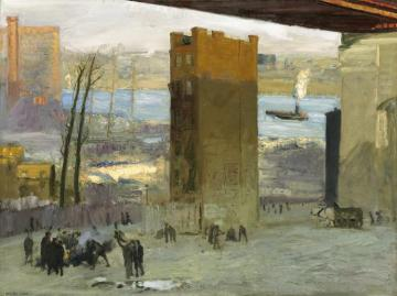 Lone Tenement Artwork by George Wesley Bellows