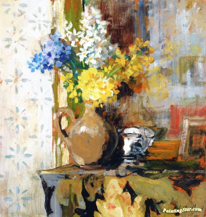 Vase of spring flowers artwork by edouard vuillard oil painting vase of spring flowers artwork by edouard vuillard mightylinksfo Choice Image