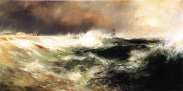 Stranded Ship On East Hampton Beach Artwork by Thomas Moran