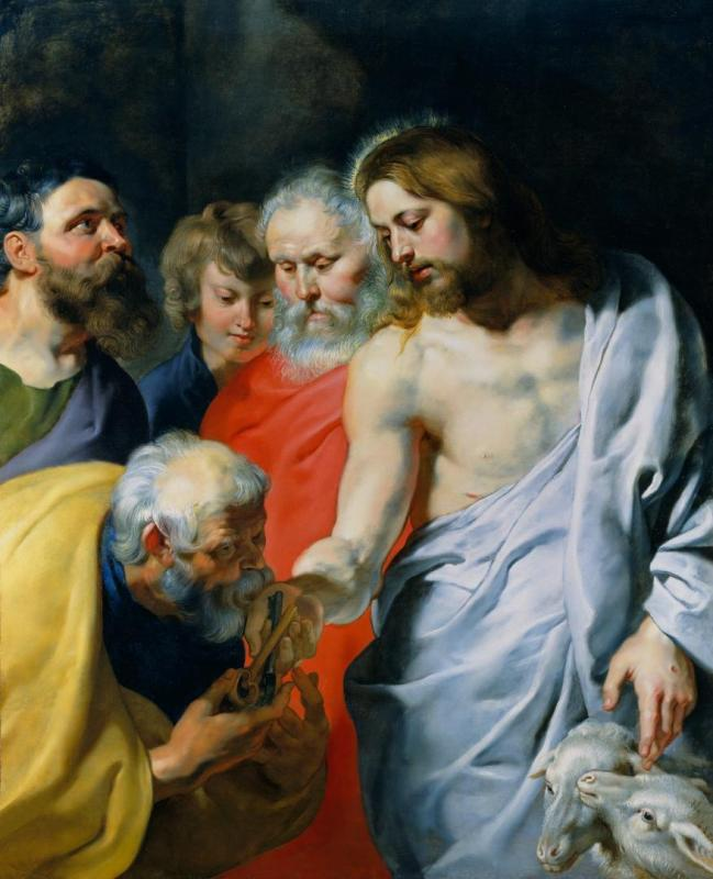Christ's Charge to Peter Artwork by Peter Paul Rubens