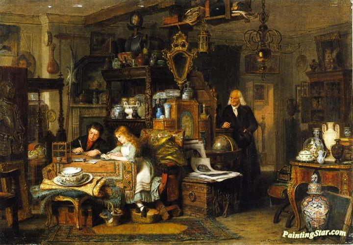 The Old Curiosity Shop, Art Painting by John Watkins Chapman