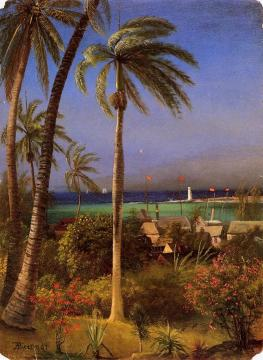 Bahamian View Artwork by Albert Bierstadt