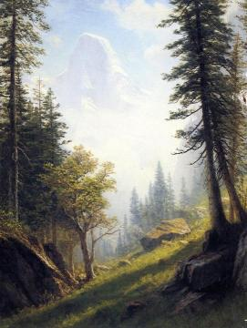 Among the Bernese Alps Artwork by Albert Bierstadt