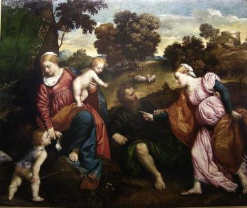 The Mystical Marriage of Saint Catherine Artwork by Paris Bordone