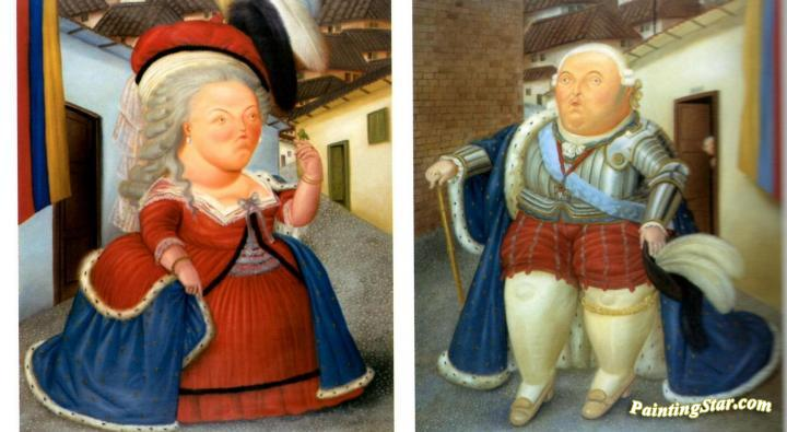 Marie Antoinette And Louis Xvi Painting
