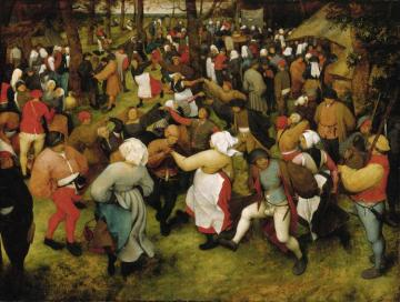 Wedding Dance In The Open Air Artwork by Pieter Bruegel the Elder