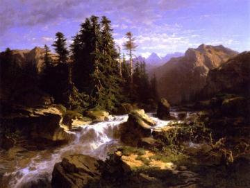 Torrent in the Alps Artwork by Alexandre Calame