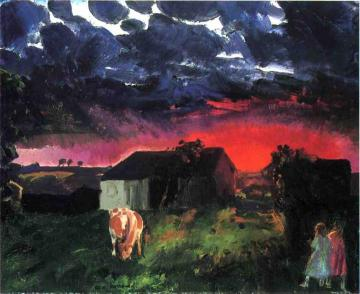 Red Sun Artwork by George Wesley Bellows
