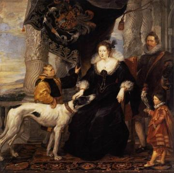 Portrait of Lady Arundel with her Train Artwork by Peter Paul Rubens