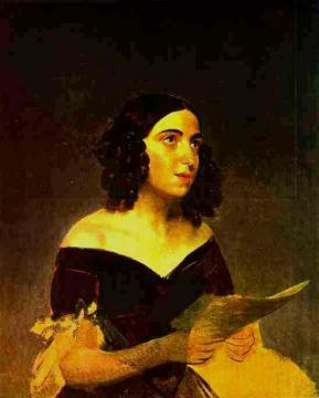 Portrait of Singer A. Ya. Petrova Artwork by Karl Pavlovich Bryullov