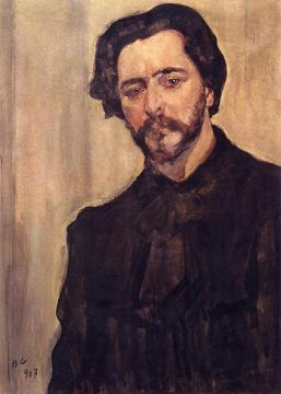 Portrait of the Writer Leonid Andreev Artwork by Valentin Serov
