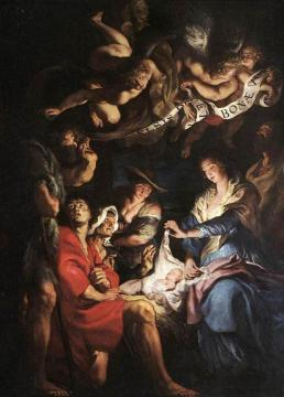 Adoration of the Shepherds Artwork by Peter Paul Rubens