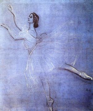 Anna Pavlova In The Ballet Sylphyde Artwork by Valentin Serov